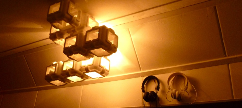 Styrofoam lamps