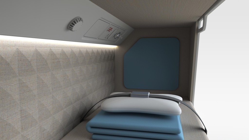 Crew rest experience, Bunk view