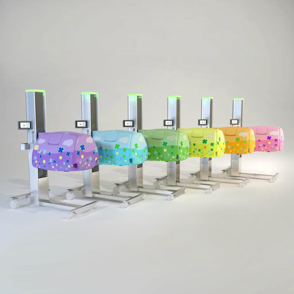 Babybloom incubators come in many colors